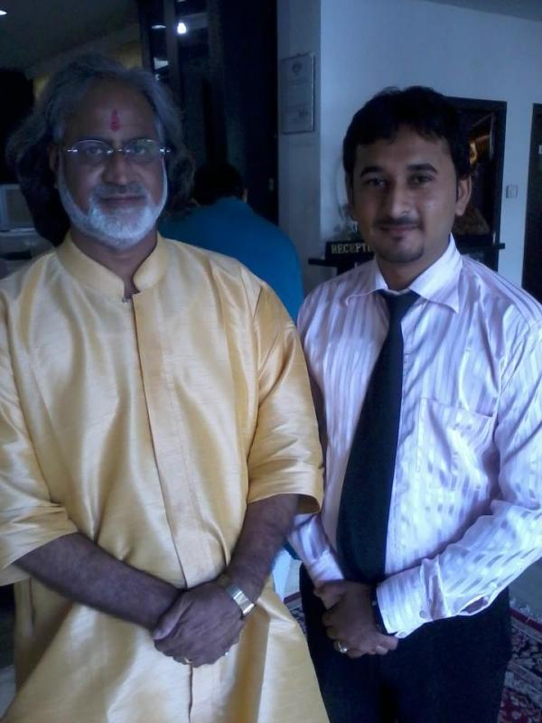 Vishwa Mohan Bhatt is an Indian slide guitar player